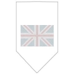 Mirage Pet Products British Flag Rhinestone Bandana White Small
