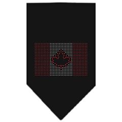 Mirage Pet Products Canadian Flag Rhinestone Bandana Black Large