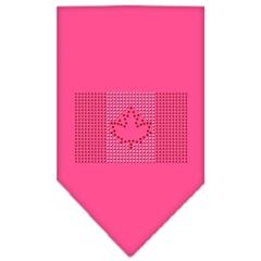 Mirage Pet Products Canadian Flag Rhinestone Bandana Bright Pink Small