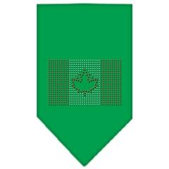 Mirage Pet Products Canadian Flag Rhinestone Bandana Emerald Green Large