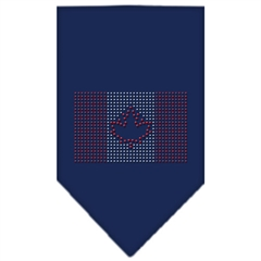 Mirage Pet Products Canadian Flag Rhinestone Bandana Navy Blue large