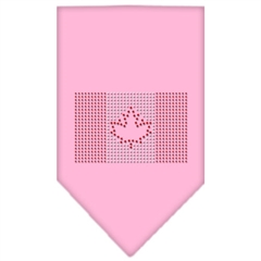 Mirage Pet Products Canadian Flag Rhinestone Bandana Light Pink Small