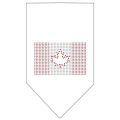 Mirage Pet Products Canadian Flag Rhinestone Bandana White Large