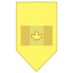 Mirage Pet Products Canadian Flag Rhinestone Bandana Yellow Small