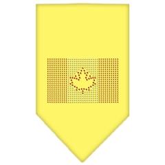 Mirage Pet Products Canadian Flag Rhinestone Bandana Yellow Large