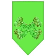 Mirage Pet Products Candy Cane Crossbones Rhinestone Bandana Lime Green Large