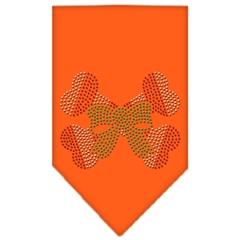 Mirage Pet Products Candy Cane Crossbones Rhinestone Bandana Orange Small
