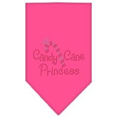 Mirage Pet Products Candy Cane Princess Rhinestone Bandana Bright Pink Large