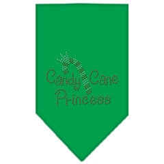 Mirage Pet Products Candy Cane Princess Rhinestone Bandana Emerald Green Large