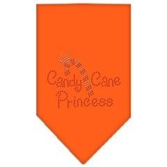 Mirage Pet Products Candy Cane Princess Rhinestone Bandana Orange Large