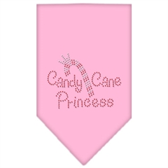 Mirage Pet Products Candy Cane Princess Rhinestone Bandana Light Pink Large