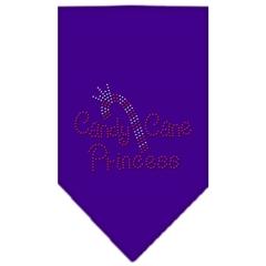 Mirage Pet Products Candy Cane Princess Rhinestone Bandana Purple Large