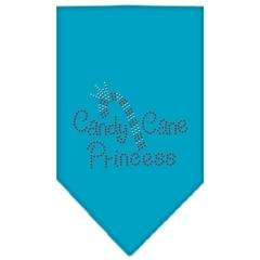 Mirage Pet Products Candy Cane Princess Rhinestone Bandana Turquoise Large