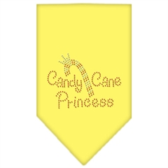 Mirage Pet Products Candy Cane Princess Rhinestone Bandana Yellow Large