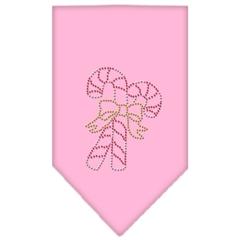 Mirage Pet Products Candy Canes Rhinestone Bandana Light Pink Small