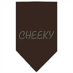 Mirage Pet Products Cheeky Rhinestone Bandana Cocoa Large