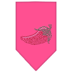 Mirage Pet Products Chili Pepper Rhinestone Bandana Bright Pink Large