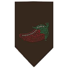 Mirage Pet Products Chili Pepper Rhinestone Bandana Cocoa Small
