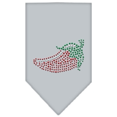Mirage Pet Products Chili Pepper Rhinestone Bandana Grey Small