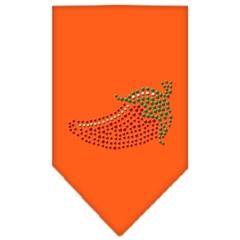 Mirage Pet Products Chili Pepper Rhinestone Bandana Orange Small