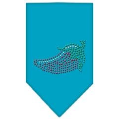 Mirage Pet Products Chili Pepper Rhinestone Bandana Turquoise Large