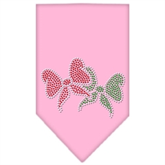 Mirage Pet Products Christmas Bows Rhinestone Bandana Light Pink Small