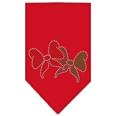 Mirage Pet Products Christmas Bows Rhinestone Bandana Red Small