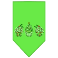 Mirage Pet Products Christmas Cupcakes Rhinestone Bandana Lime Green Small
