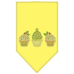 Mirage Pet Products Christmas Cupcakes Rhinestone Bandana Yellow Small