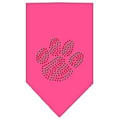 Mirage Pet Products Christmas Paw Rhinestone Bandana Bright Pink Large
