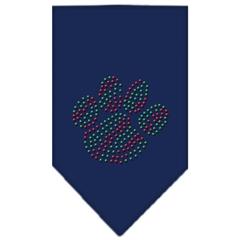 Mirage Pet Products Christmas Paw Rhinestone Bandana Navy Blue large