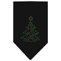 Mirage Pet Products Christmas Tree Rhinestone Bandana Black Large