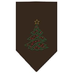 Mirage Pet Products Christmas Tree Rhinestone Bandana Cocoa Small