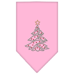 Mirage Pet Products Christmas Tree Rhinestone Bandana Light Pink Small