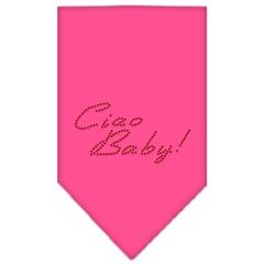 Mirage Pet Products Ciao Baby Rhinestone Bandana Bright Pink Large
