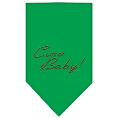 Mirage Pet Products Ciao Baby Rhinestone Bandana Emerald Green Large
