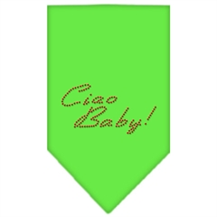 Mirage Pet Products Ciao Baby Rhinestone Bandana Lime Green Large