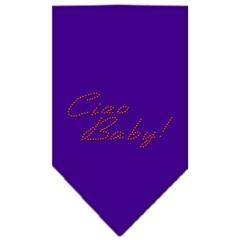 Mirage Pet Products Ciao Baby Rhinestone Bandana Purple Small