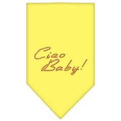 Mirage Pet Products Ciao Baby Rhinestone Bandana Yellow Small