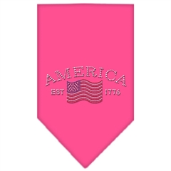 Mirage Pet Products Classic American Rhinestone Bandana Bright Pink Small