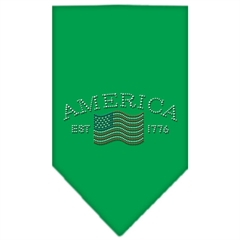Mirage Pet Products Classic American Rhinestone Bandana Emerald Green Small