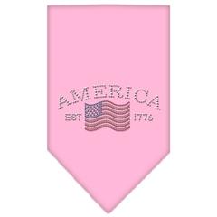 Mirage Pet Products Classic American Rhinestone Bandana Light Pink Small
