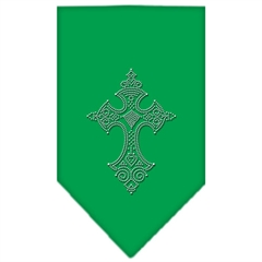 Mirage Pet Products Cross Rhinestone Bandana Emerald Green Large
