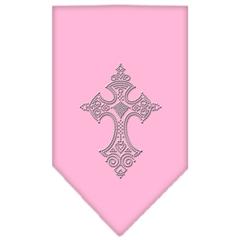 Mirage Pet Products Cross Rhinestone Bandana Light Pink Small