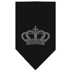 Mirage Pet Products Crown Rhinestone Bandana Black Small