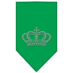 Mirage Pet Products Crown Rhinestone Bandana Emerald Green Large