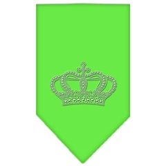 Mirage Pet Products Crown Rhinestone Bandana Lime Green Large