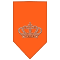 Mirage Pet Products Crown Rhinestone Bandana Orange Large