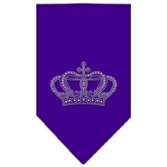 Mirage Pet Products Crown Rhinestone Bandana Purple Large