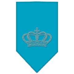 Mirage Pet Products Crown Rhinestone Bandana Turquoise Small